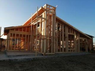 Какркасный дом на этапе строительства